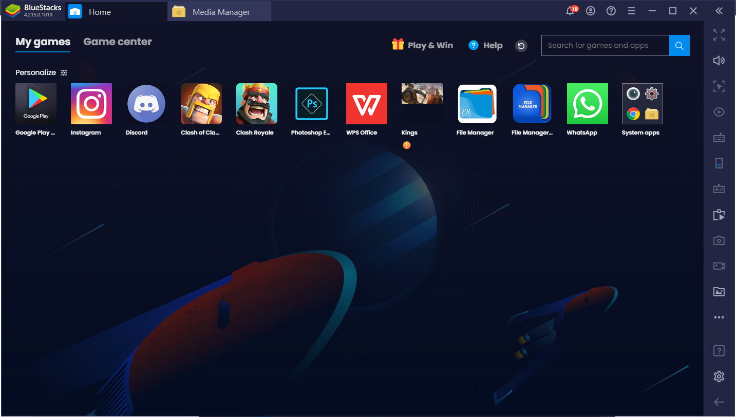 Bluestacks UI