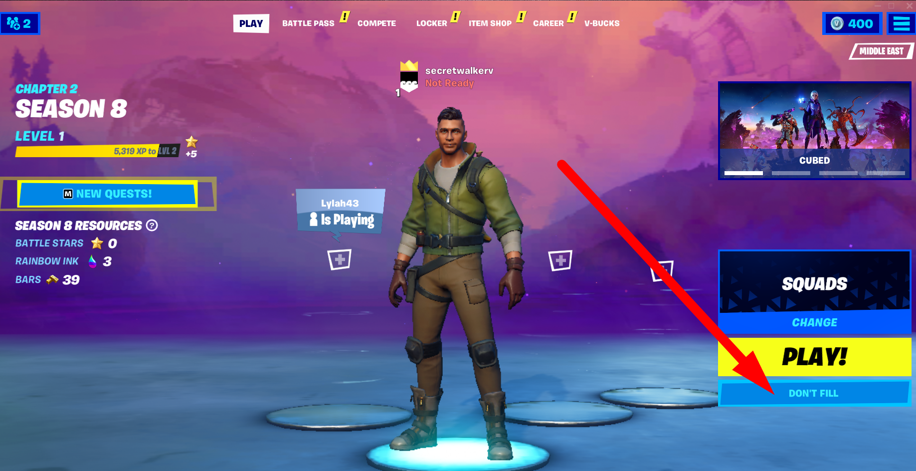 Fortnite - Not getting teammates in squads